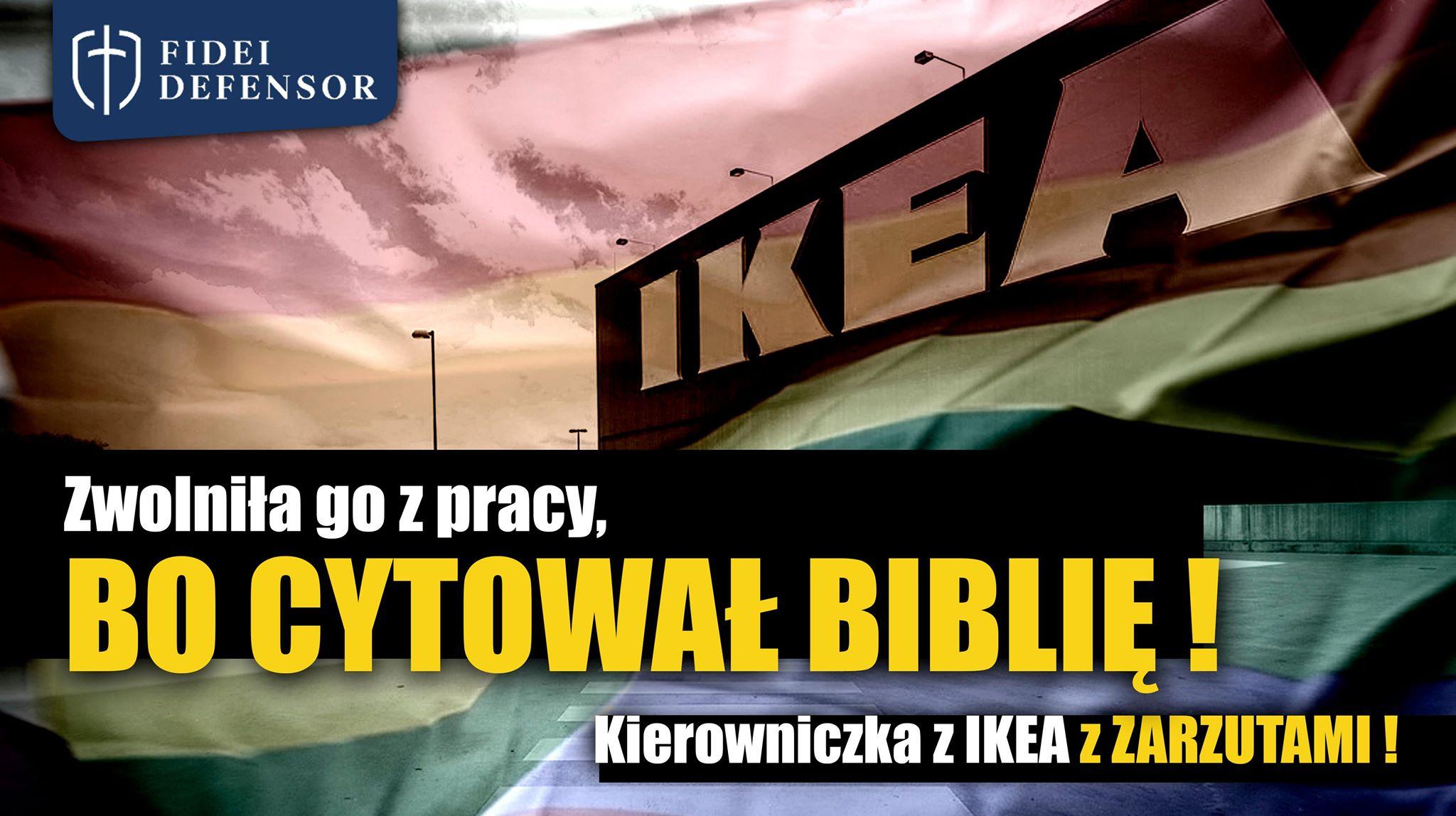 Prokuratorskie zarzuty za łamanie wolności wyznania w IKEI