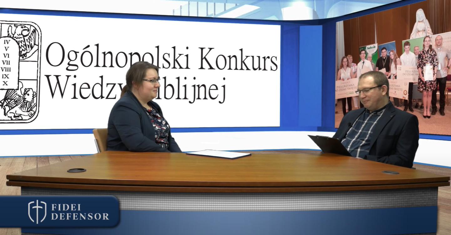 KONKURS WIEDZY BIBLIJNEJ – Natalia Dąbrowska – rozmowa FIDEI DEFENSOR