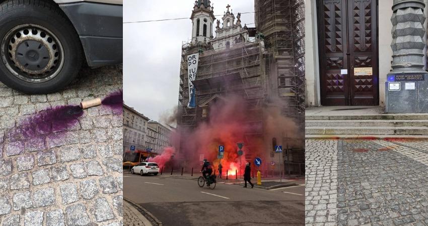 Atak na kościół i Ordo Iuris w Warszawie